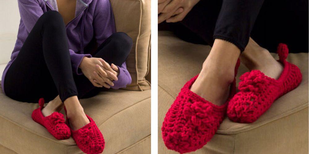 Double-Sole Crochet Slippers [FREE Crochet Pattern]   thecrochetfox.com