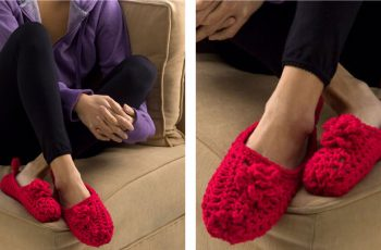Double-Sole Crochet Slippers [FREE Crochet Pattern] | thecrochetfox.com