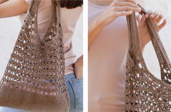 Eco Crochet Tote Bag [FREE Crochet Pattern] | thecrochetfox.com