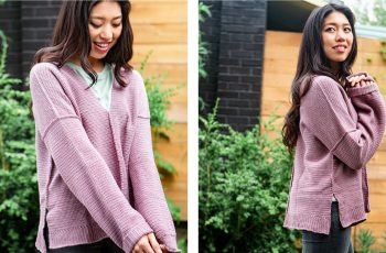 Effortless Oversized Top [FREE Crochet Pattern] | thecrochetfox.com
