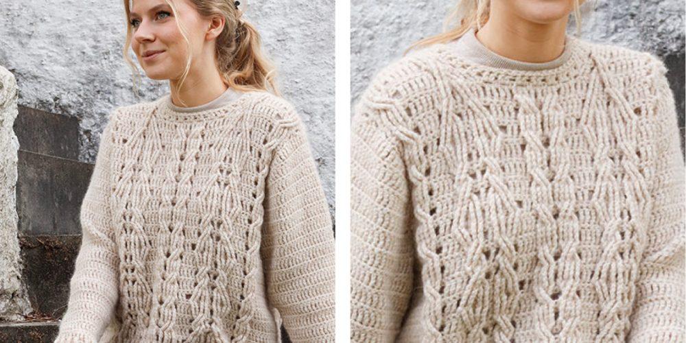 Enchanted Underwood Crochet Sweater [FREE Crochet Pattern]   thecrochetfox.com