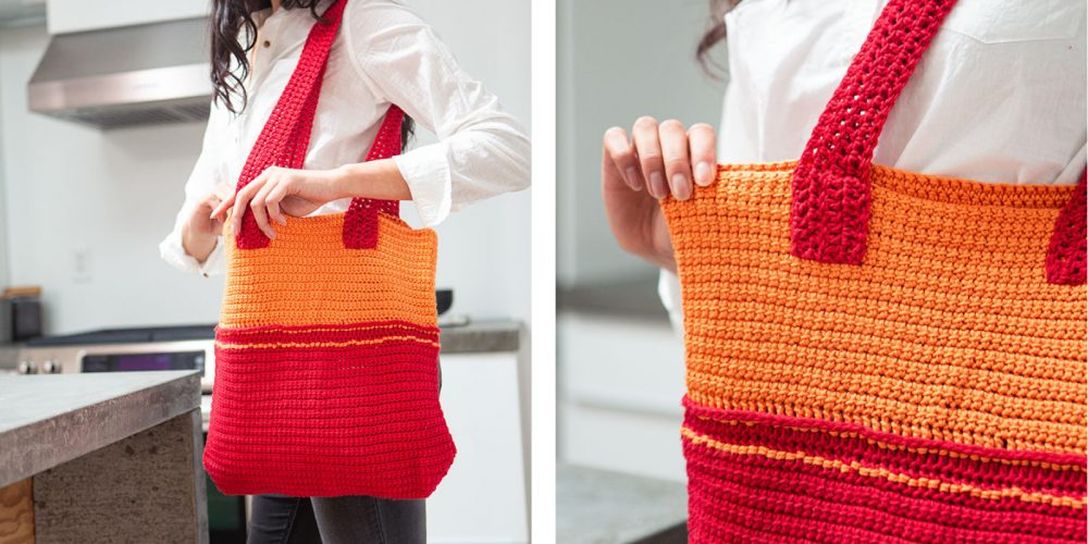 Fiesta Crochet Tote Bag [FREE Crochet Pattern] | thecrochetfox.com