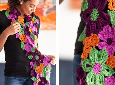 Flower Garden Crochet Scarf [FREE Crochet Pattern] | thecrochetfox.com