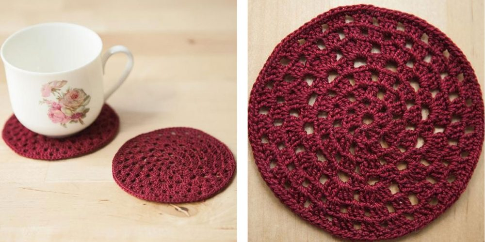 Granny Circle Crochet Coasters [FREE Crochet Pattern]   thecrochetfox.com