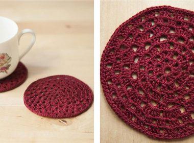 Granny Circle Crochet Coasters [FREE Crochet Pattern] | thecrochetfox.com