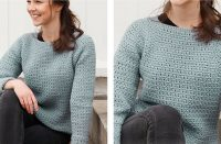 Grey Owl Crocheted Sweater [FREE Crochet Pattern] | thecrochetfox.com