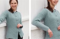 Crocheted Grey Owl Jacket [FREE Crochet Pattern] | thecrochetfox.com