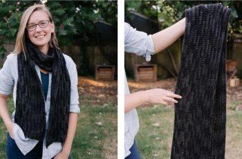 Half Double Preciosa Crochet Scarf [FREE Crochet Pattern] | thecrochetfox.com