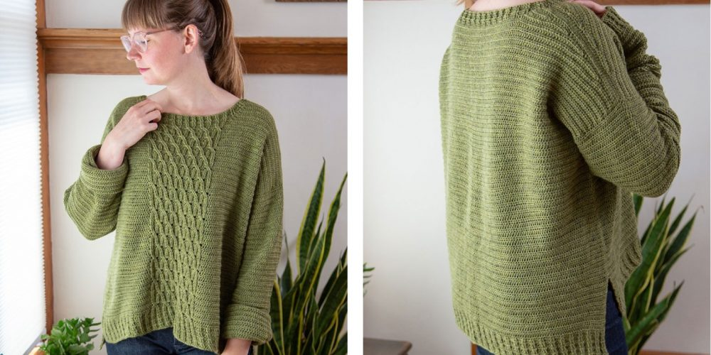 Hastings Crochet Cabled Sweater [FREE Crochet Pattern]   thecrochetfox.com