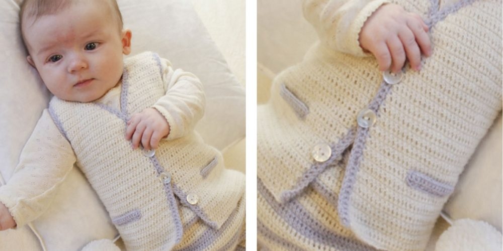 Heartthrob Crochet Baby Vest [FREE Crochet Pattern] | thecrochetfox.com