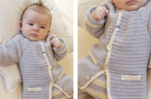 Heartthrob Crochet Baby Jacket [FREE Crochet Pattern] | thecrochetfox.com