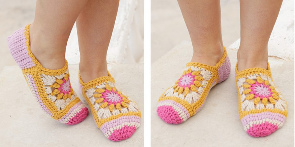 Gorgeous Himalayan Rose Crochet Socks [FREE Crochet Pattern] | thecrochetfox.com