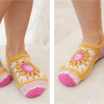 Gorgeous Himalayan Rose Crochet Socks [FREE Crochet Pattern]