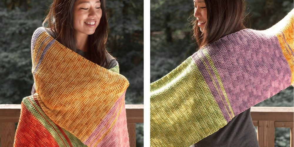 Holiday Sweets Crochet Shawl [FREE Crochet Pattern] | thecrochetfox.com