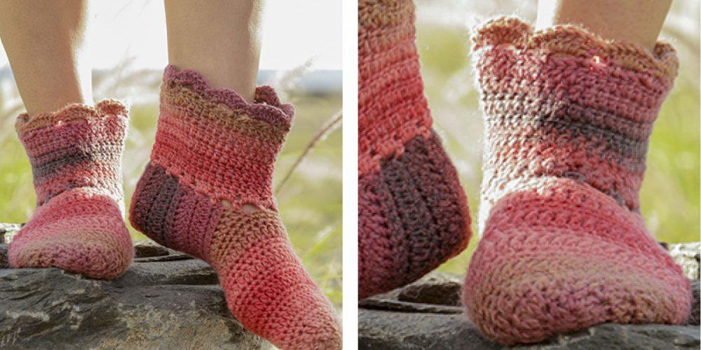 Hotstepper Crochet Slippers [FREE Crochet Pattern]   thecrochetfox.com