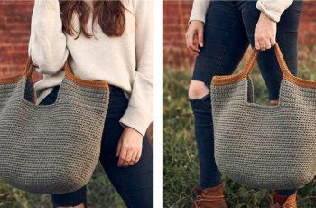Sophisticated Huntington Carryall [FREE Crochet Pattern] | thecrochetfox.com