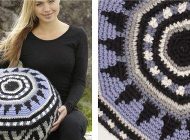 Crochet Inti Pouffe [FREE Crochet Pattern] | thecrochetfox.com