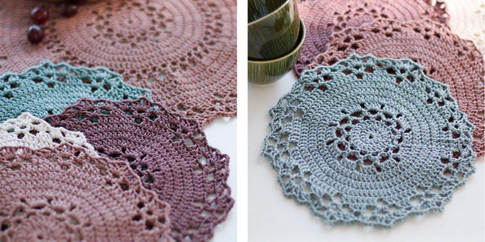 Jolly Crochet Table Mat [FREE Crochet Pattern] | thecrochetfox.com
