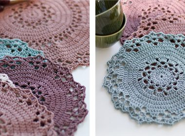Jolly Crochet Table Mat [FREE Crochet Pattern] | thecrochetfox.com