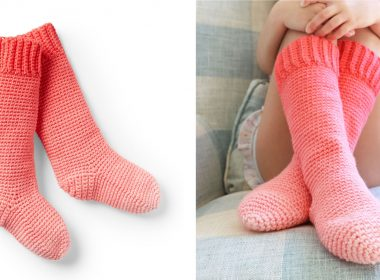 Easy Kids Crochet Slipper Socks [FREE Crochet Pattern] | thecrochetfox.com