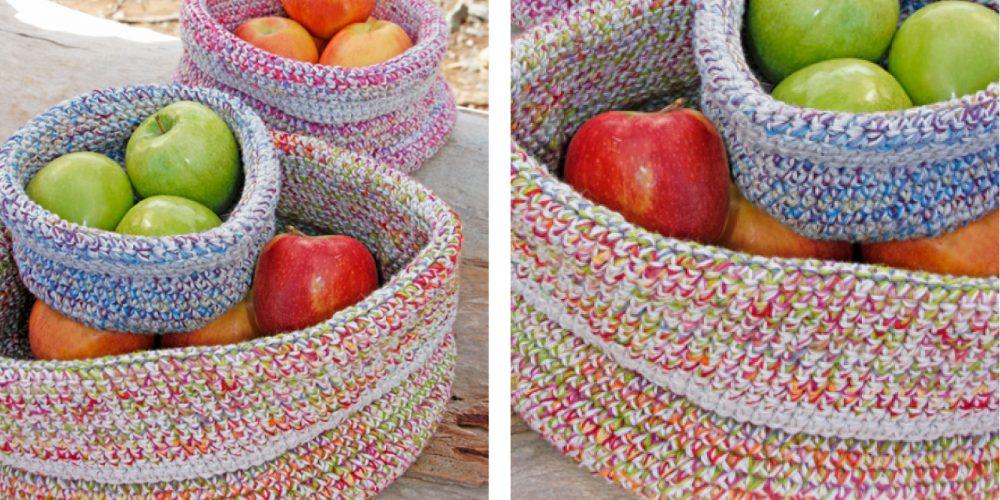 Crocheted Laura Kitchen Basket [FREE Crochet Pattern] | thecrochetfox.com