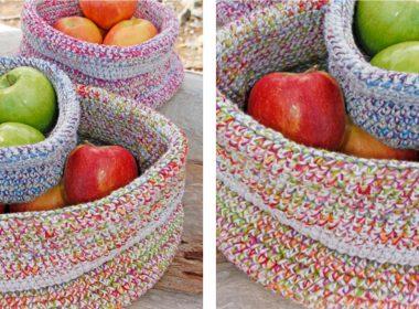 Crocheted Laura Kitchen Basket [FREE Crochet Pattern]   thecrochetfox.com