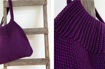 Le Tote Crochet Bag [FREE Crochet Pattern] | thecrochetfox.com