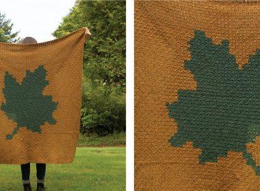 Largest Leaf C2C Afghan [FREE Crochet Pattern] | thecrochetfox.com