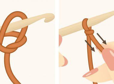 Left-Handed Crochet Slip Knot: How to Tie a Slip Knot in Crochet | thecrochetfox.com