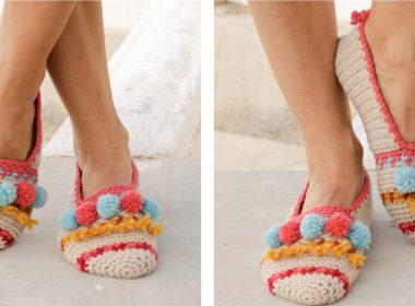 Let's Party Crochet Slippers [FREE Crochet Pattern] | thecrochetfox.com