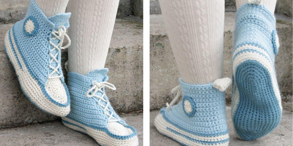 Let's Walk Crochet Slippers [FREE Crochet Pattern]   thecrochetfox.com
