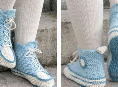 Let's Walk Crochet Slippers [FREE Crochet Pattern] | thecrochetfox.com