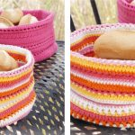 Lovely Al Fresco Crochet Breadbasket [FREE Crochet Pattern]