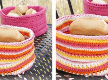 Lovely Al Fresco Crochet Bread Basket [FREE Crochet Pattern] | thecrochetfox.com