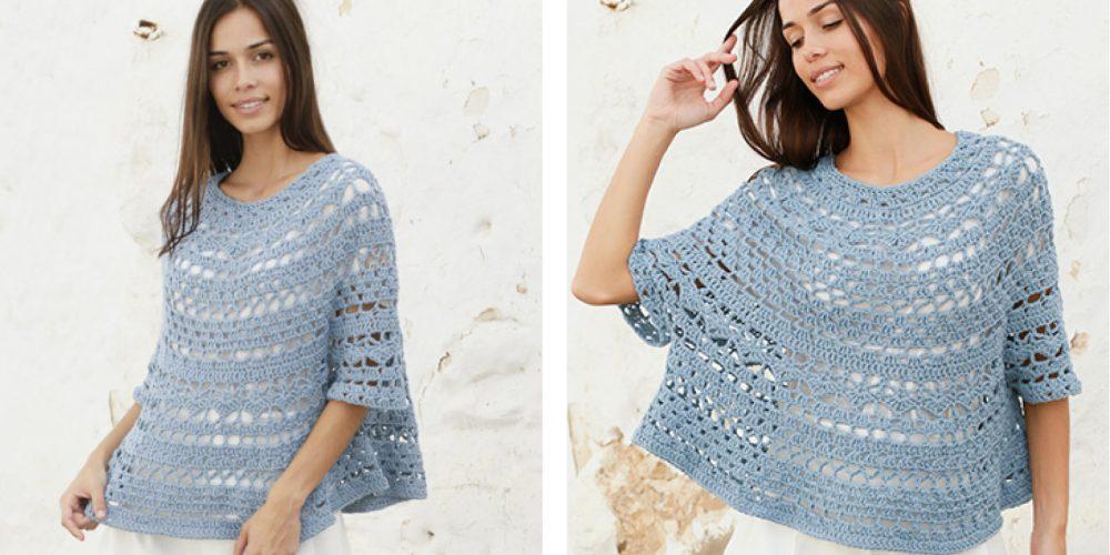 Crocheted Mermaid Shell Poncho Sweater [FREE Crochet Pattern] | thecrochetfox.com