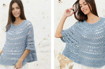 Crocheted Mermaid Shell Poncho Sweater [FREE Crochet Pattern]   thecrochetfox.com