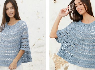 Crocheted Mermaid Shell Poncho Sweater [FREE Crochet Pattern] | thecrochetfox.com