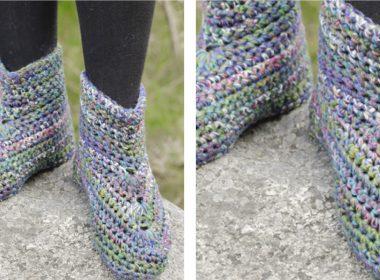 Merriment Crochet Slippers [FREE Crochet Pattern] | thecrochetfox.com