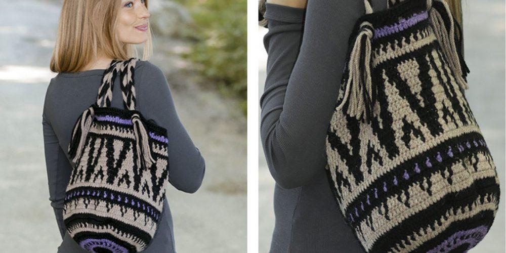 Midnight Bonfires Crocheted Bag [FREE Crochet Pattern] | thecrochetfox.com