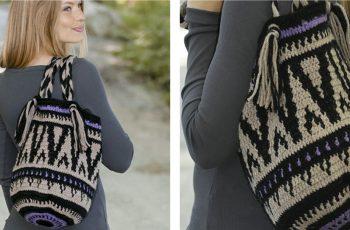 Midnight Bonfires Crocheted Bag [FREE Crochet Pattern]   thecrochetfox.com