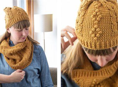 Montague Avenue Hat and Cowl [FREE Crochet Pattern] | thecrochetfox.com