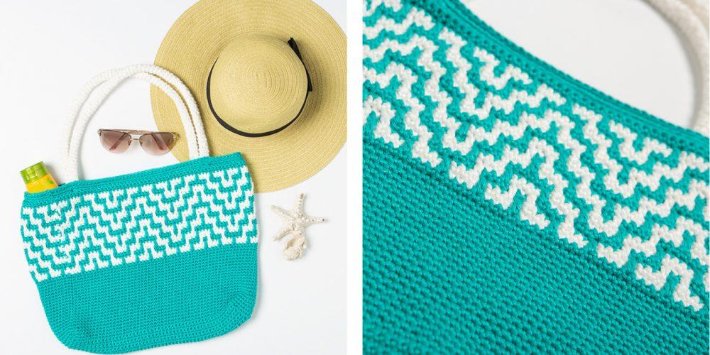 Mosaic Crochet Tote Bag [FREE Crochet Pattern]   thecrochetfox.com