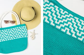 Mosaic Crochet Tote Bag [FREE Crochet Pattern] | thecrochetfox.com