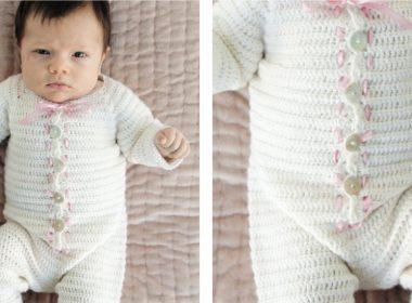 Snug My Sweetie Onesie [FREE Crochet Pattern] | thecrochetfox.com