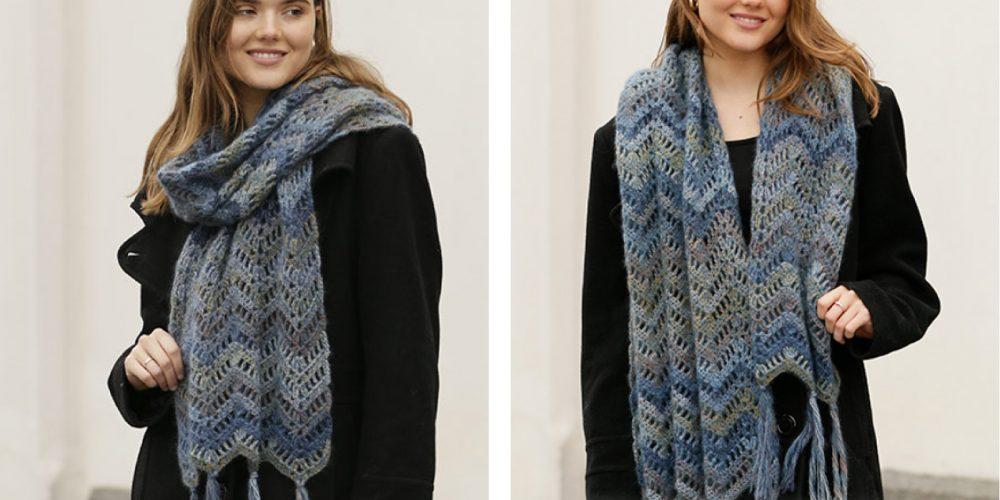 Oceanic Crochet Scarf [FREE Crochet Pattern]   thecrochetfox.com
