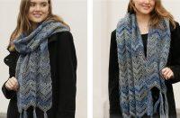 Oceanic Crochet Scarf [FREE Crochet Pattern] | thecrochetfox.com