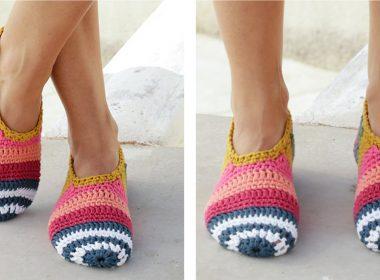 On Point Slippers [FREE Crochet Pattern] | thecrochetfox.com