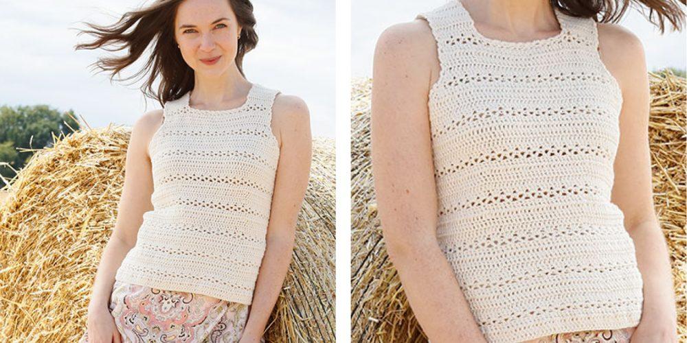 Open Country Crochet Top [FREE Crochet Pattern]   thecrochetfox.com