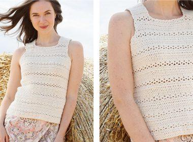 Open Country Crochet Top [FREE Crochet Pattern] | thecrochetfox.com