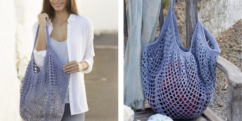 Pacific Blues Crochet Bag [FREE Crochet Pattern] | thecrochetfox.com